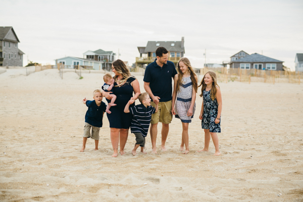 Rodanthe North Carolina family beach portraits